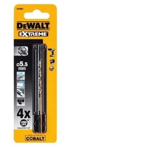Wiertła kobaltowe 5.5mm EXTREME HSS-Co DeWALT DT4907-QZ