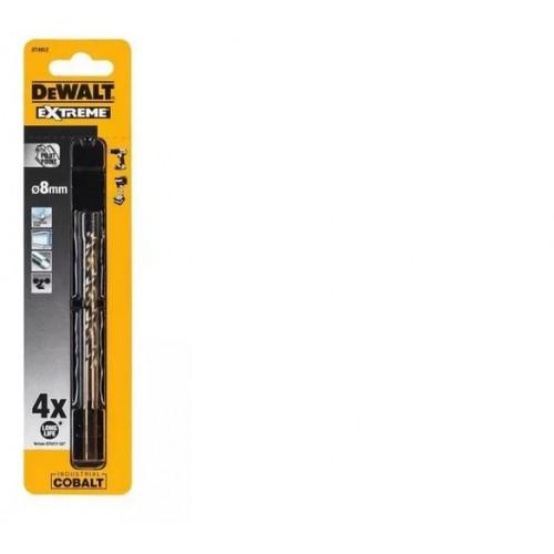 Wiertła kobaltowe 8.0mm EXTREME HSS-Co DeWALT DT4912-QZ