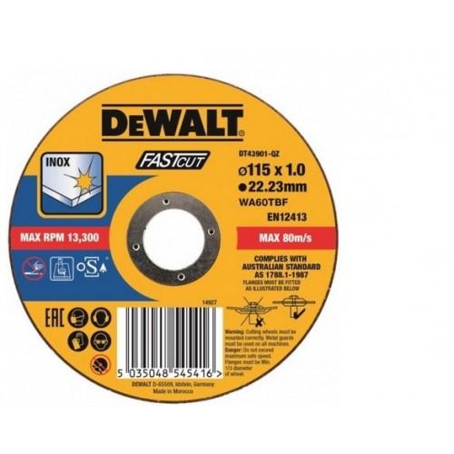 Tarcza 115x1mm Inox DeWALT