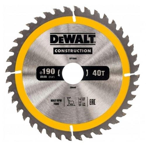 Tarcza do drewna 190x30mm 40z. DeWALT DT1945-QZ