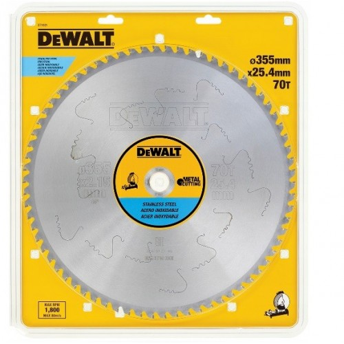 Tarcza do metalu inoxa 355x25,4mm 70z. DeWALT DT1921-QZ