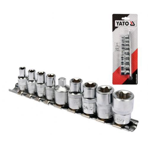 Klucze nasadowe torx E5-E16 9cz. Yato YT-0520