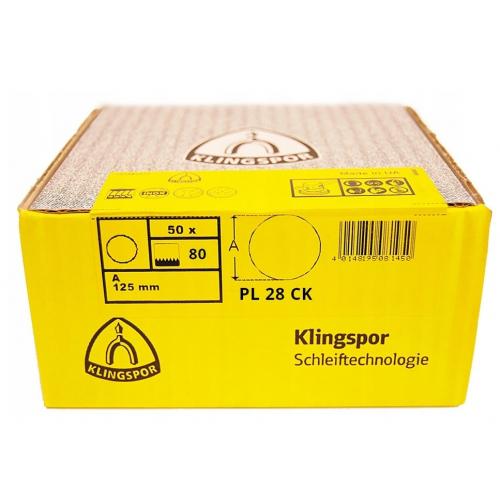 Papier krążek 125 gr.80 PL28 - 50szt. Klingspor