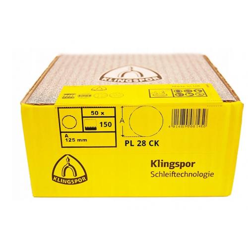 Papier krążek 125 gr.150 PL28 - 50szt. Klingspor