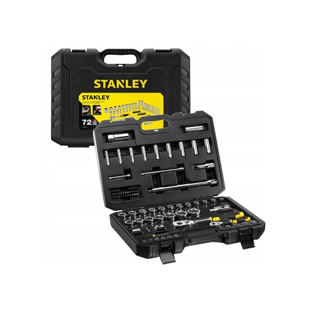 """Zestaw narzędziowy 1/2"""", 1/4"""" 72cz. Stanley STMT1-82831"""