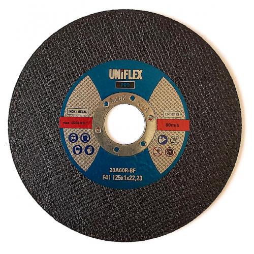Tarcza do cięcia stali 125x1,0mm Inox UNIFLEX niebieska PRO/NIEB
