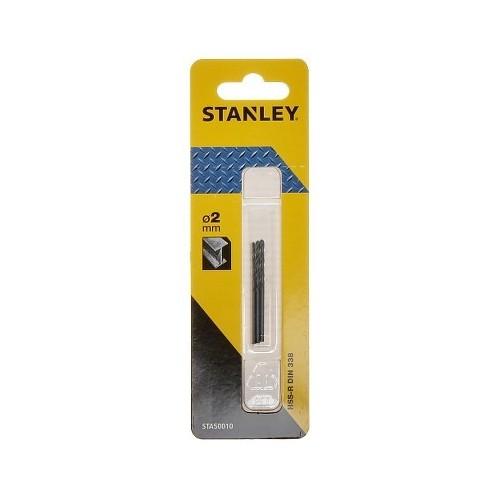 Wiertła do metalu 2,0x40mm HSS-R 3szt. Stanley STA50010-QZ