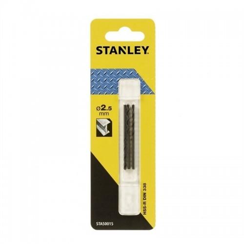 Wiertła do metalu 2,5x57mm HSS-R 3szt. Stanley STA50015-QZ