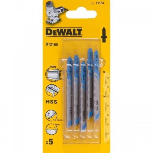 Brzeszczoty do metalu 76mm gł 1.5-3 mm - chwyt T 5szt.DeWALT DT2160-QZ
