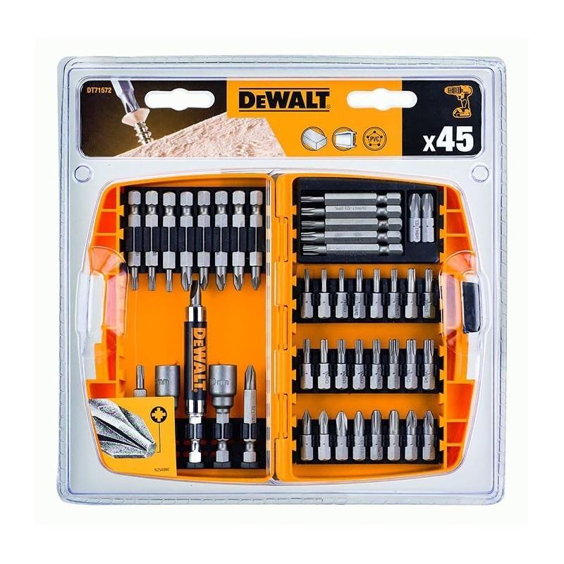 Zestaw Bitów nasadek do Wkrętarki 45szt. DeWalt DT71572