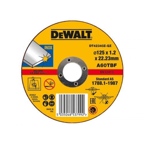 Tarcza do cięcia stali 125x1,2mm Inox Dewalt DT42340Z-QZ