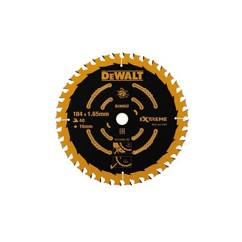 Tarcza do drewna 184x16x40zęby DeWALT DT10303-QZ