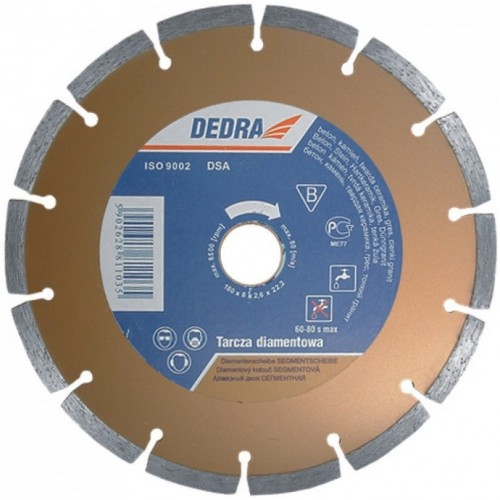 Tarcza diamentowa 125mm segmentowa Dedra DEDH1107