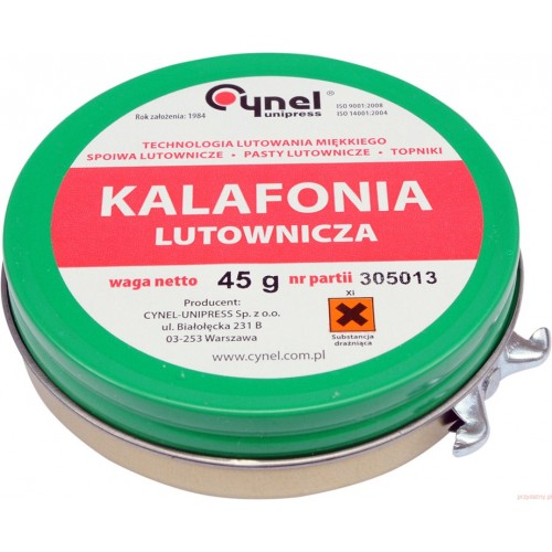 Kalafonia lutownicza 45g. Cynel B05C2903