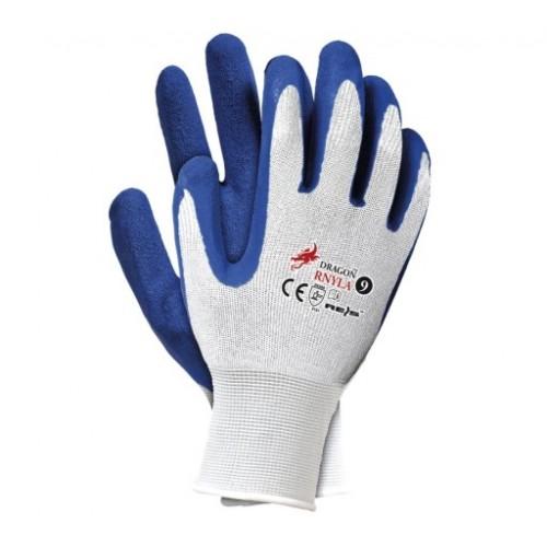"""Rękawice robocze RNYLA - 10"""" niebieskie RNYLA10"""