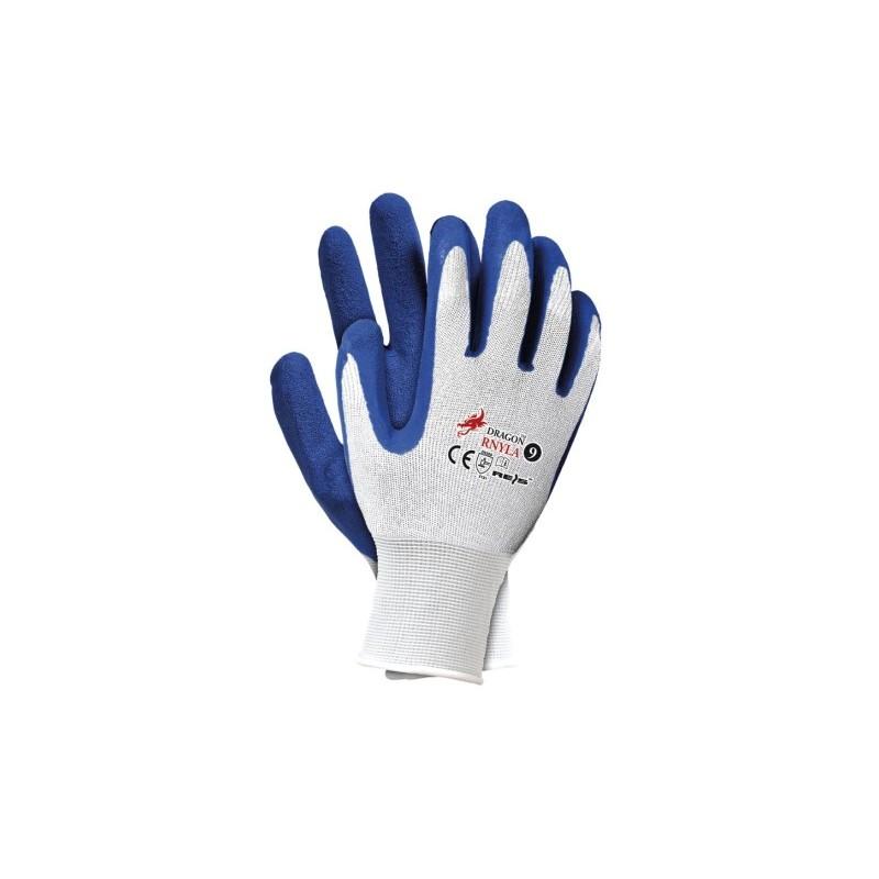 """Rękawice robocze RNYLA - 11"""" niebieskie RNYLA11"""