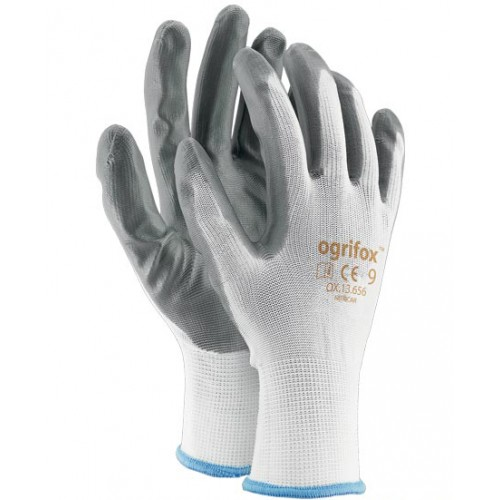 "Rękawice nitrylowe szare - 9"" BLACK-9"""