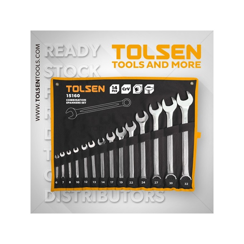 Klucze pł-oczkowe 8-32mm 14cz. TOLSEN TOL 15160