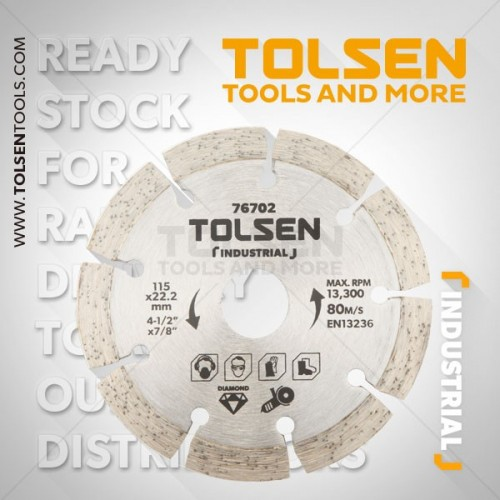 Tarcza diament segment 125mm Industrial Tolsen 76703