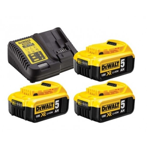 Ładowarka + 3 akumulatory 5.0 Ah DeWALT DCB115P3-QW