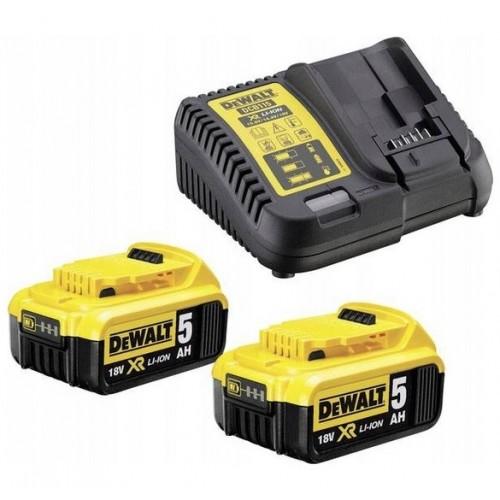 Ładowarka + 2 akumulatory 5.0 Ah DeWALT DCB115P2-QW