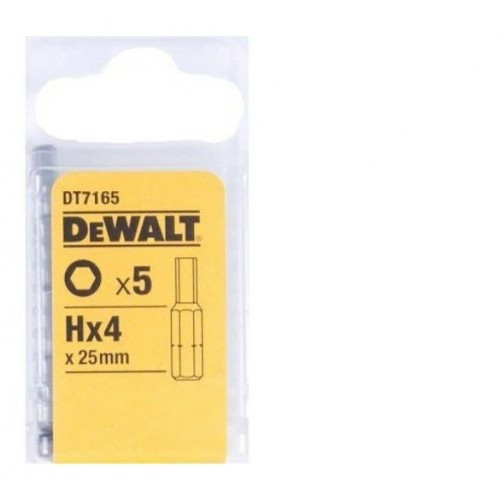 Końcówki Bit Imbus 4x25 mm 5szt. DeWALT DT7165-QZ