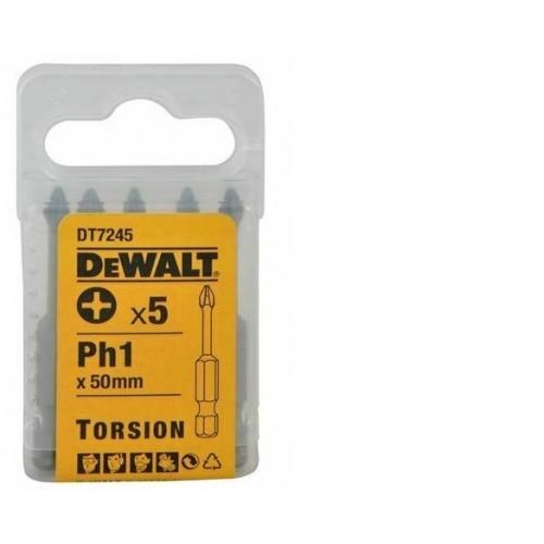 """Końcówka 1/4"""" Ph1 x 50mm 5szt. DeWALT DT7245-QZ"""